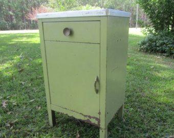vtg 1940 50s simmons furniture metal medical. METAL CABINET, Medical Cabinet, Vintage Retro Kitchen Home Bar Cabinet Vtg 1940 50s Simmons Furniture Metal A