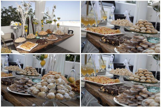 Wedding in Santorini dessert tablesantorini wedding by Aressana  www.aressana.gr