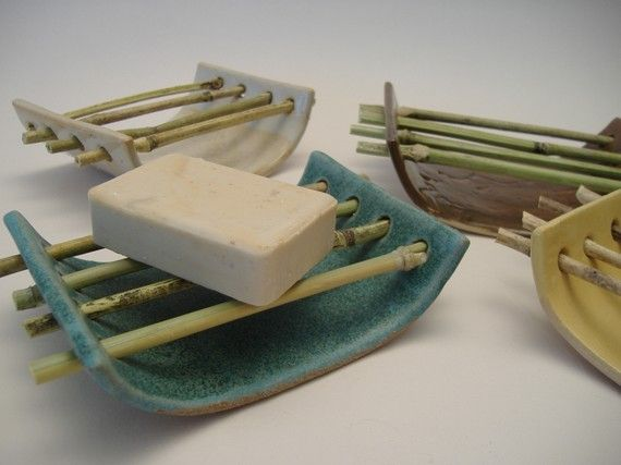 Awesome soap dish - and she came up with the design at the Campbell Folk School! :)