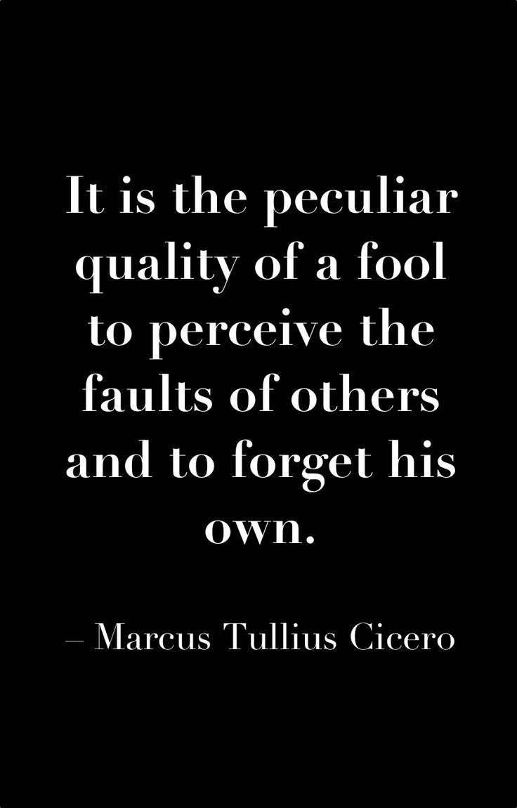 #Cicero #fool #quote