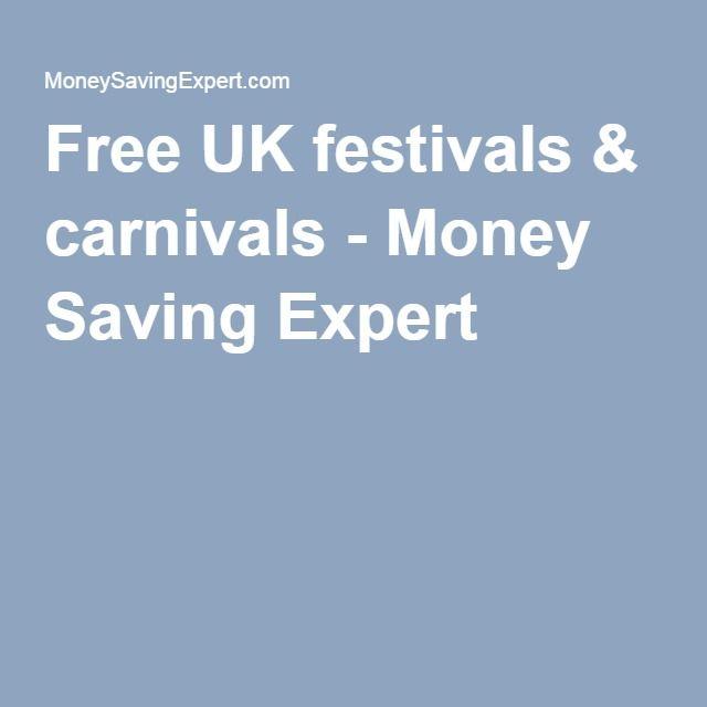 Free UK festivals & carnivals - Money Saving Expert