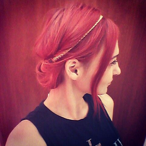 Easy and quick hair style only with headband ♡