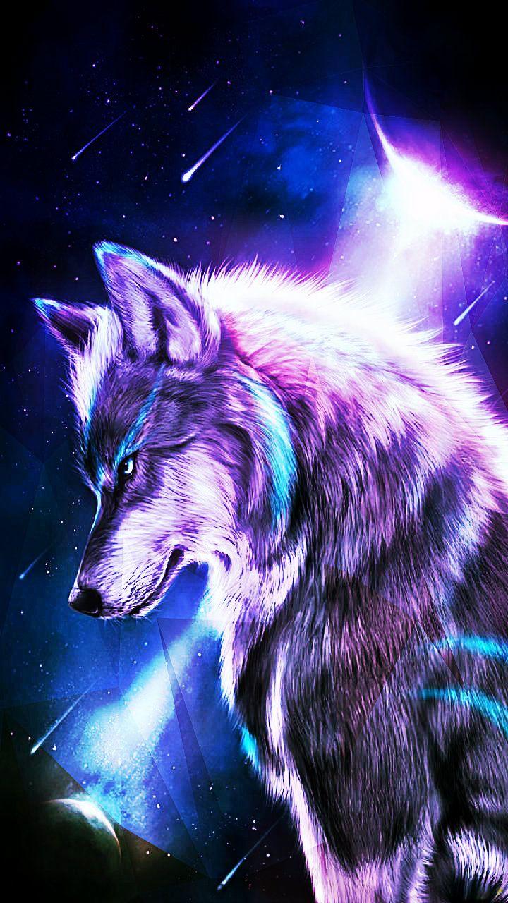 Wolfstar Wolf Painting Wolf Artwork Anime Wolf
