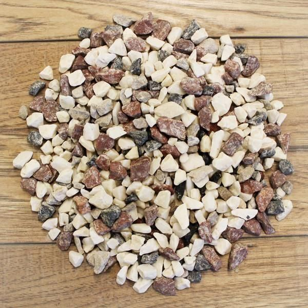 A Stunning Mix Bag Of 10mm White Marble Red Granite And Black Chippings Creates This Unusual Gravel For A Very S White Gravel Brown And Grey