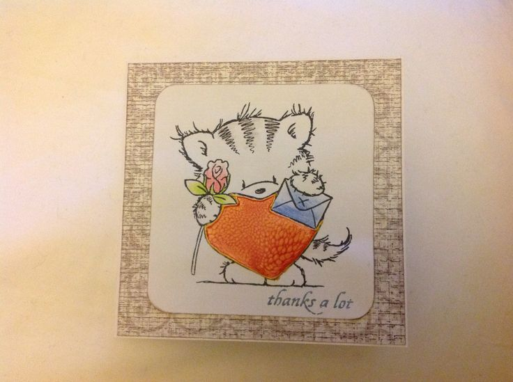 Thank you card using a Wild Rose Studio stamp -Sarah Field