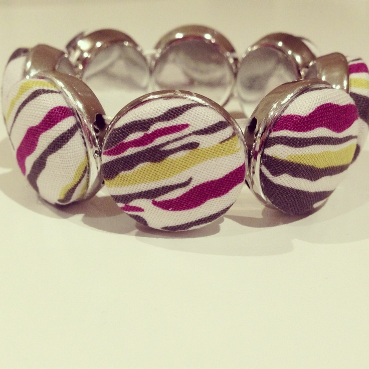 $20 fabric button bracelet