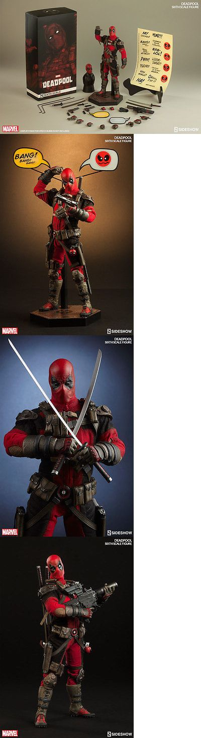 Toys And Games: 2016 Marvel Sideshow Collectibles 12 1/6 Scale Deadpool Action Figure Mib New BUY IT NOW ONLY: $189.99