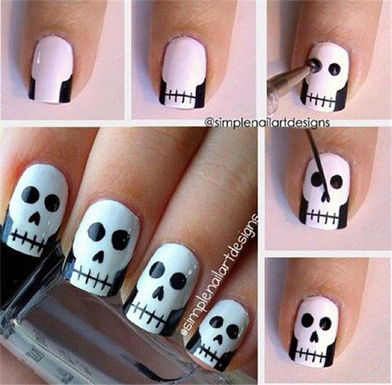 name jewelry  Easy Step By Step Halloween Nail Art Tutorials For Beginners http  www meetthebestyou com  easy step by step halloween nail art tutorials for beginners