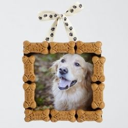 DIY dog bone holiday ornament