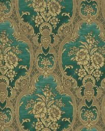 Nilsagarden 93 Damask Wallpaper From Lim Handtryck Vintage WallpapersFloral WallpapersGreen WallpaperGold