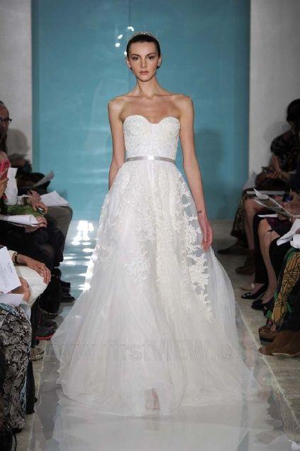 12 best Reem Acra images on Pinterest | Short wedding gowns, Wedding ...