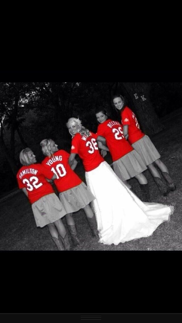 Baseball Wedding... The fact that they have cowboy boots in and baseball shirts.. In love with this idea!!!