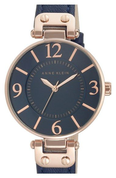 $65 Anne Klein Leather Strap Watch, 34mm available at #Nordstrom