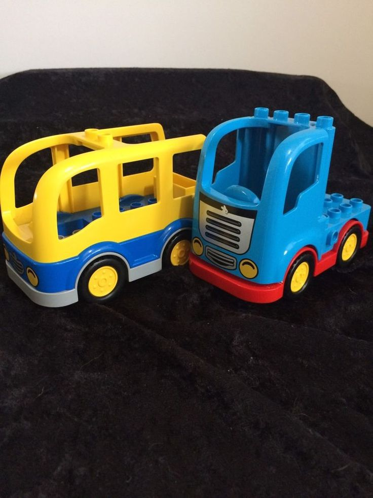 LEGO DUPLO TOWN SCHOOL BUS AND BLUE TRUCK #Lego