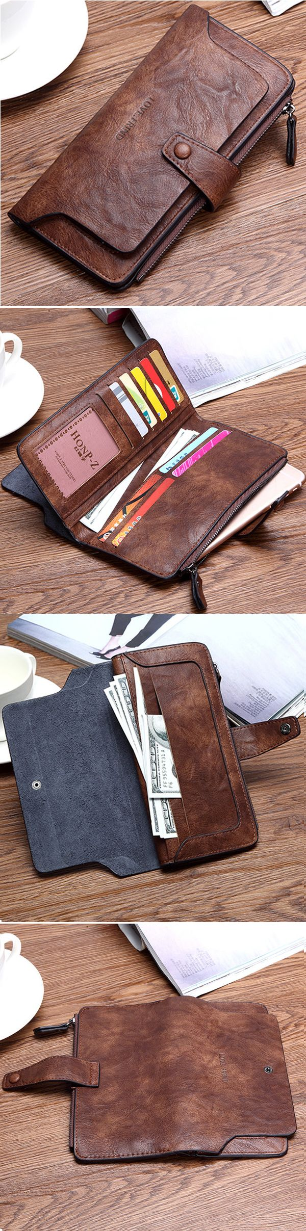 US$12.31 Women Long Wallet Elegant PU Evening Wallet Wristlet Wallet Phone Bag For Iphone,Samsung,Xiaomi