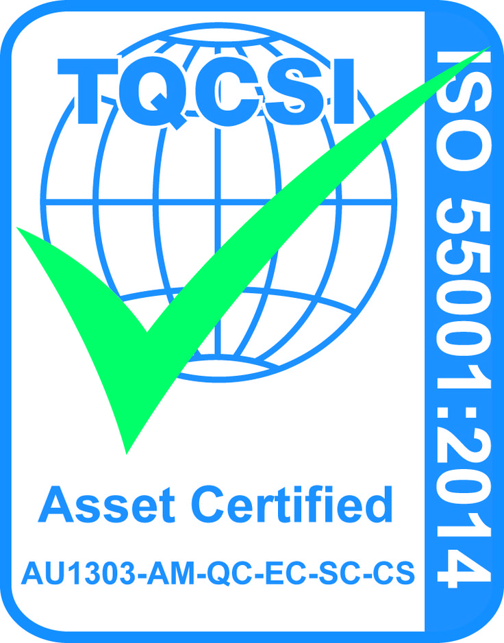 Assetlink and AssetFuture are proud to announce that we are one of the first companies in the world to be independently assessed and achieve certification to the new Asset Management Systems standard, ISO 55001. This is independent verification of our commitment to achieving consistency; and ensuring quality in asset management and optimisation. The standard focuses on getting the maximum use and return from an asset while potentially lowering the overall cost of ownership or management.