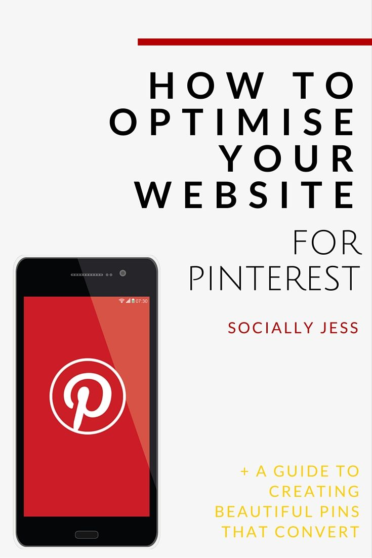Optimising your website or blog for Pinterest will help drive new traffic to your site and also encourage purchases. Learn the best ways to optimise your site for Pinterest, including how to auto-fill Pinterest descriptions, how to encourage more of your visitors to pin your content, and more. You can also download my free guide to creating beautiful pins that convert!