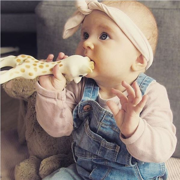 The ultimate baby accessory is back in stock! Sophie la girafe stimulates each of the five senses and she is our best companion through the teething period!