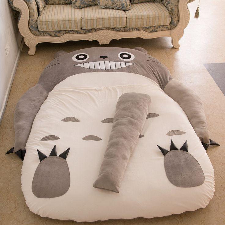 Baby Folding Sofa Bed Couch Totoro mattress couch Cute Cartoon Sleeping Bags saco de dormir de peluche lazy Mattress Cover