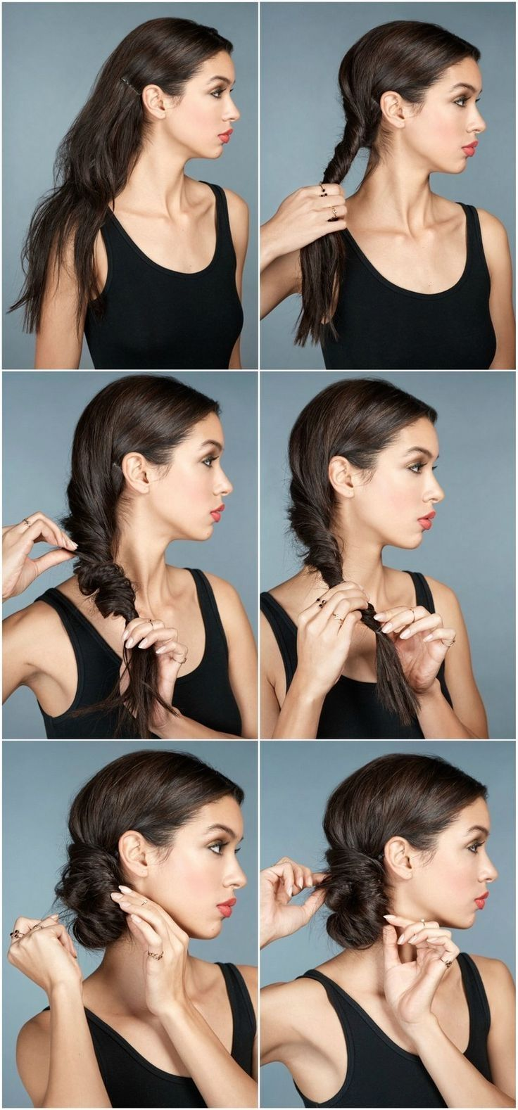 Festive Updos With Instructions 6 Styling Ideas Perfect For New Year S Eve Side Updo Instructions Imitate New Years Eve Side Updo Lazy Hairstyles Hair Styles