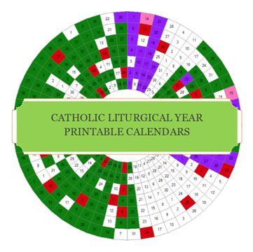 Printable Liturgical Calendars for both the OF and EF. Updated for the 2014 -2015 Liturgical Year.