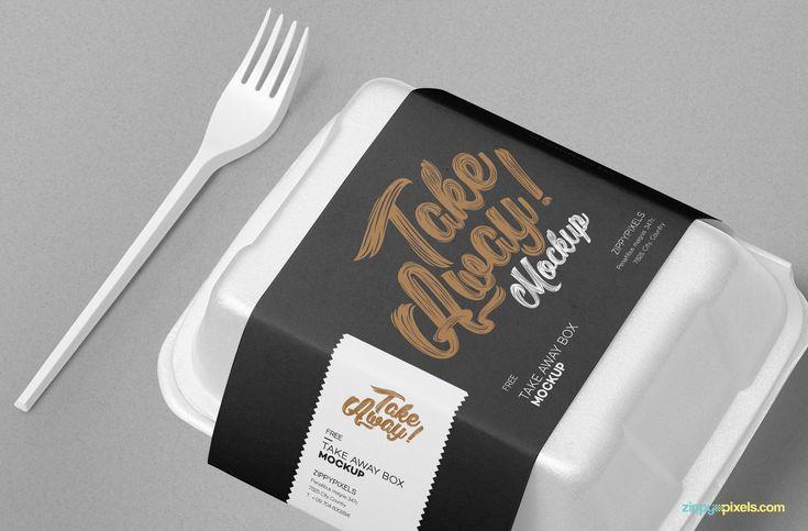 Free Disposable Food Packaging Mockup Zippypixels Food Packaging Packaging Mockup Bakery Packaging
