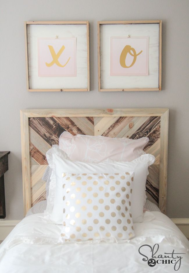 Diy Twin Platform Chevron Bed