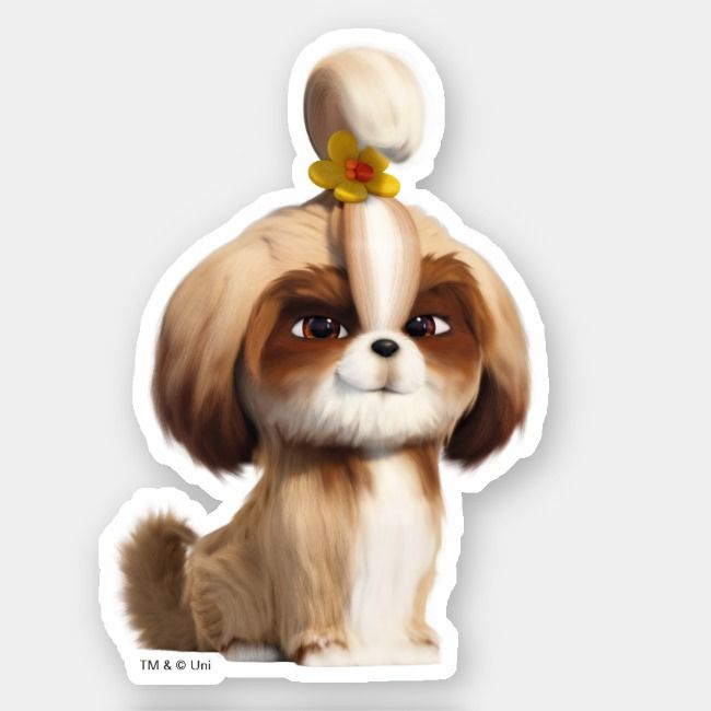 Secret Life Of Pets Daisy Sticker Zazzle Com In 2020 Secret Life Of Pets Daisy Dog Pets For Sale