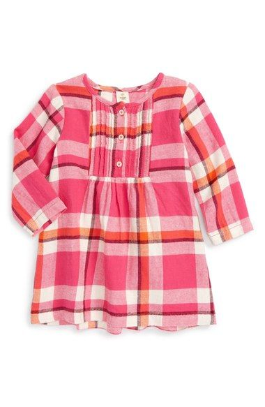 Tucker + Tate Plaid Flannel Pintuck Dress (Baby Girls) available at #Nordstrom