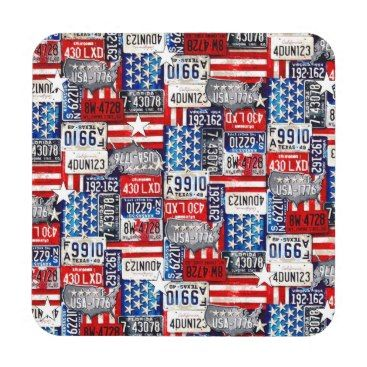 "Title : 31, Novelty License Plate Collage Print Drink Coaster  Description : Novelty, ""License-Plate-Collage"" Fun, Humor, ""4th-July,"" Retro, Vintage, Nostalgic, Unique, ""Car-Lovers"",  Product Description : check out our sire for full description"
