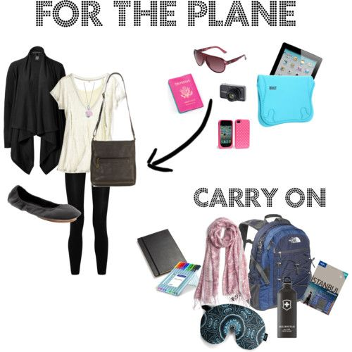 What to wear/bring on an airplane --- if I ever go on vacation I need to remember this!