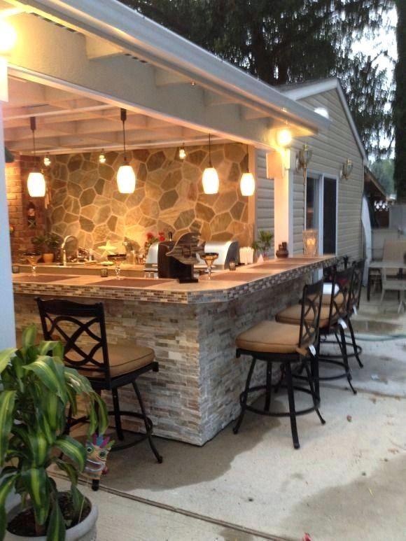 31 Unterhaltung Outdoor Kitchen Bar Ideen für Familienfeiern   – amper01