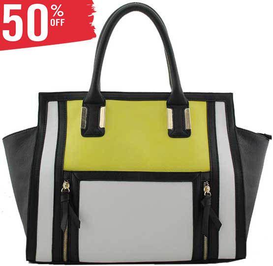 S34 - Fashion Designer Handbag - Yellow #Unbranded
