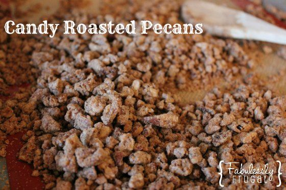 Quick recipes for candy roasted cinnamon nuts. Perfect for salads. Put in a cute tin and give them as a gift.