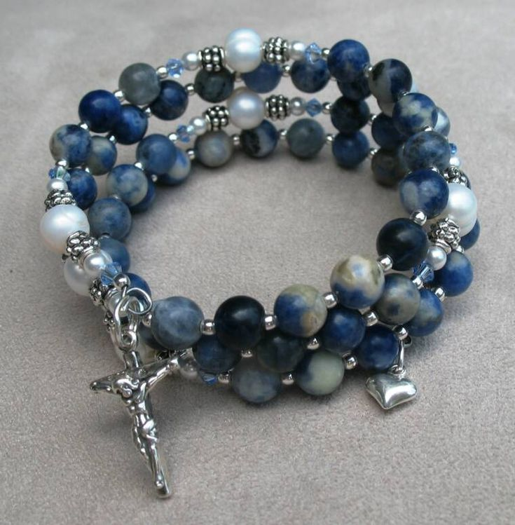 ROSARY - rosary wrap bracelets in one and five decade; endless colors and styles; a beautiful gift for a friend in faith!  Visit www.AveMomma.com.