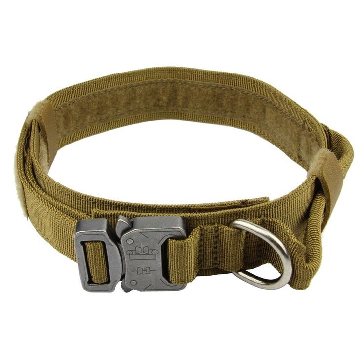Metal Buckle Dog Collar Velcro Loop Adjustable Dog Harness Dog Tactical Collar #MEIKAI