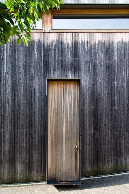 Peter Zumthor - Entry door to his Haldenstein studio, Switzerland. 1986