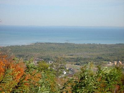 Georgian Bay from the top of Blue Mountain