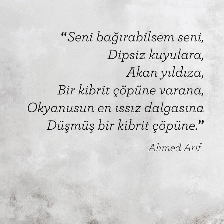 """Edebiyat""""Ahmet Arif"""""""