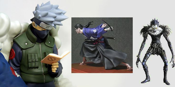 anime figures in cold porcelain