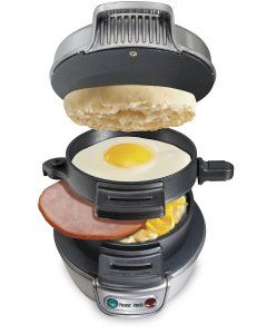 Ready in 5 minutes, that's the motto for Hamilton Beach Breakfast Panini Machine. One of the best cooking appliances in the panini press reviews