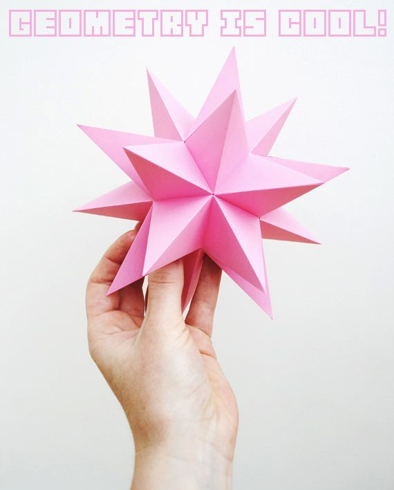 DIY paper geometric model -- for Christmas ornaments