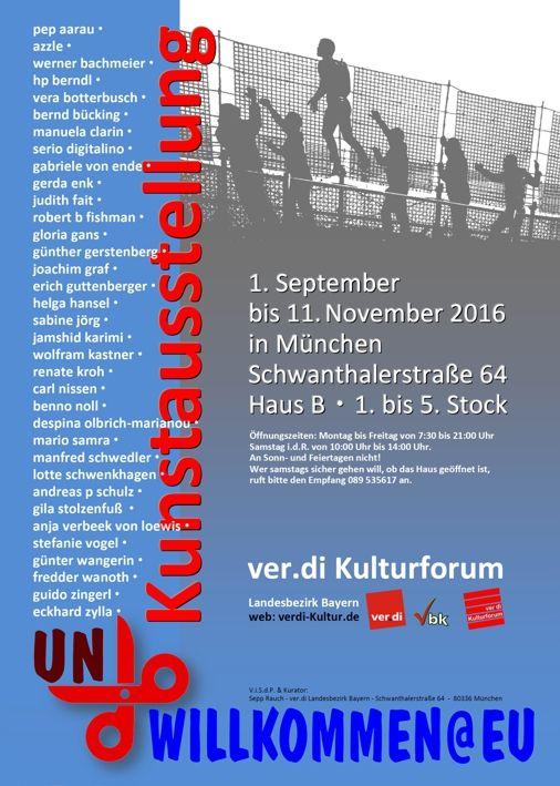 Ausstellung un_willkommen im DGB-Haus München mit meinem Foto-Beitrag über das Leben der Roma