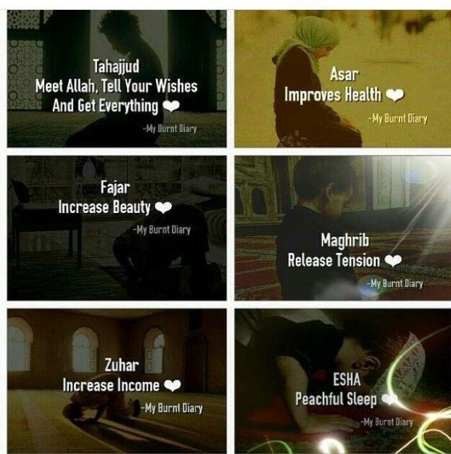 Five times a day Salah