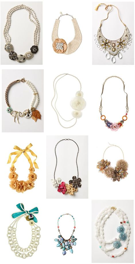 Anthropologie statement necklaces...beautiful :)