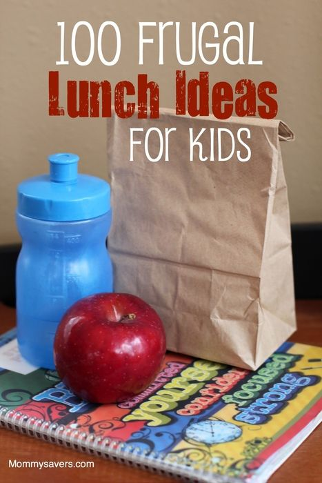 100 Frugal Lunch Ideas for Kids via mommysavers.com