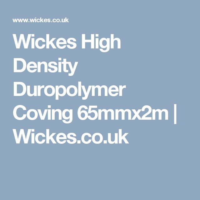 Wickes High Density Duropolymer Coving 65mmx2m | Wickes.co.uk
