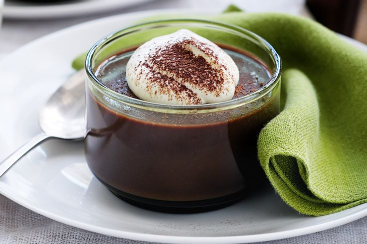 "Italian for ""pudding"", this choc-hazalnut budino is velvety smooth on the tongue and rich in taste."