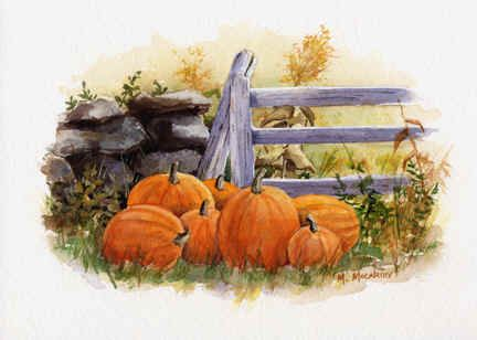"""""""Pumpkins by the Gate"""" by Maureen McCarthy"""