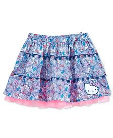 Hello Kitty Little Girls' Wave-Print Tutu Skirt